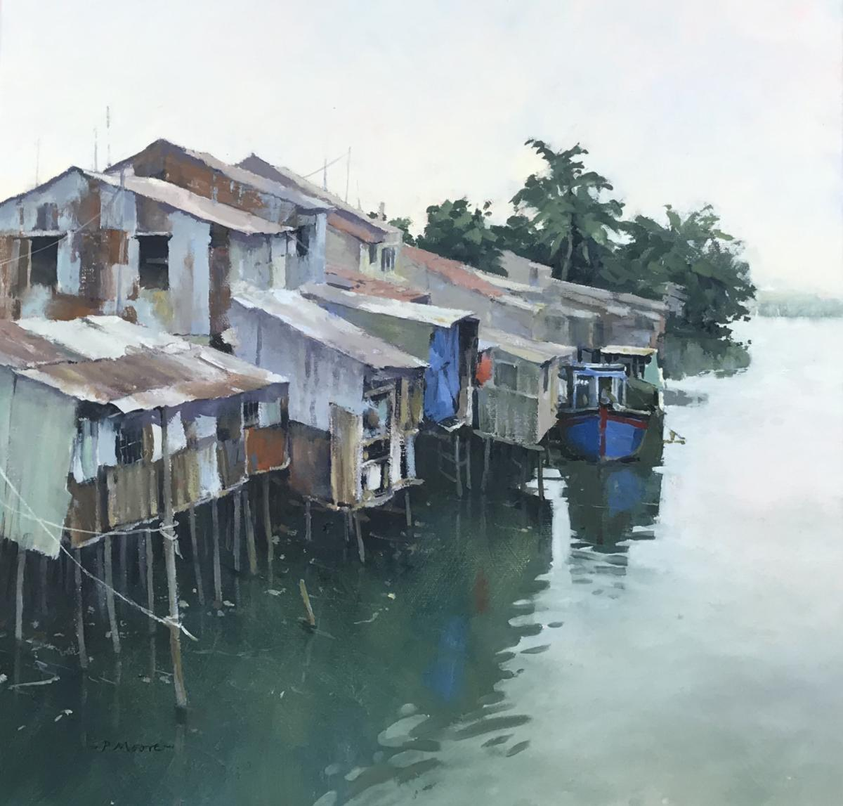 image showing At the Water's Edge: Oil on Canvas