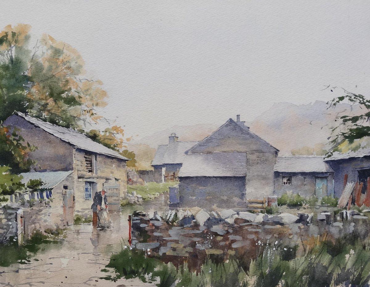 image showing Cumbrian Farm:  Watercolour