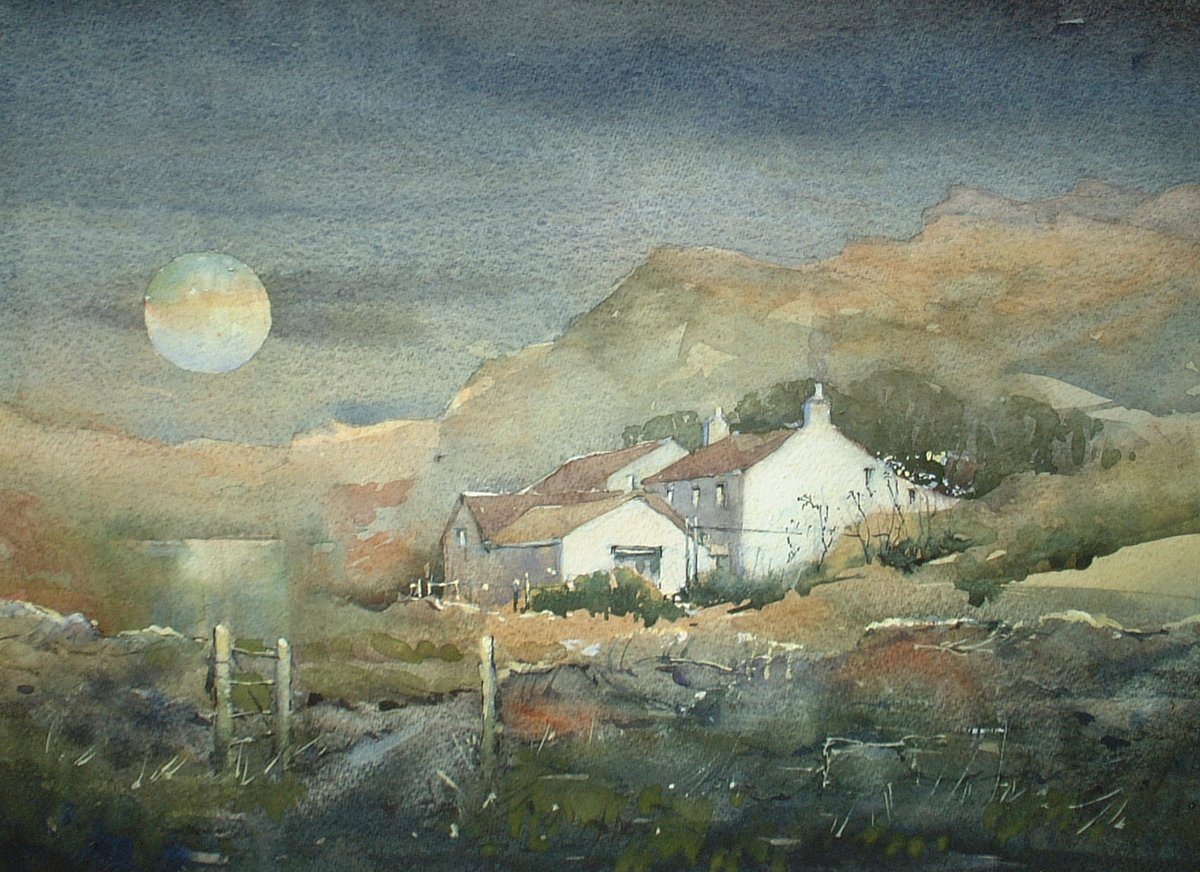 image showing Cumbrian Moon: Watercolour
