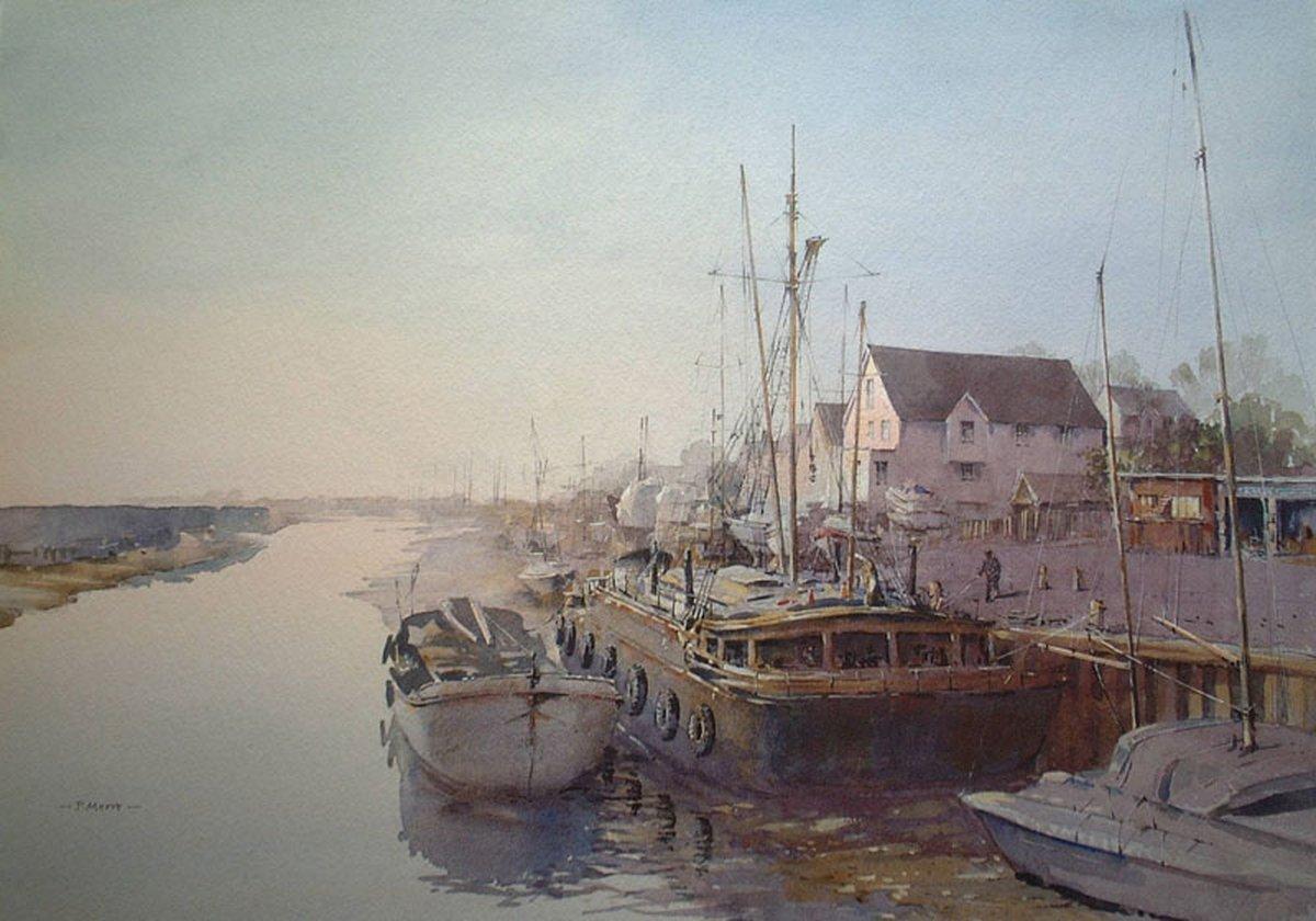 image showing Dawn Light at Maldon: Watercolour