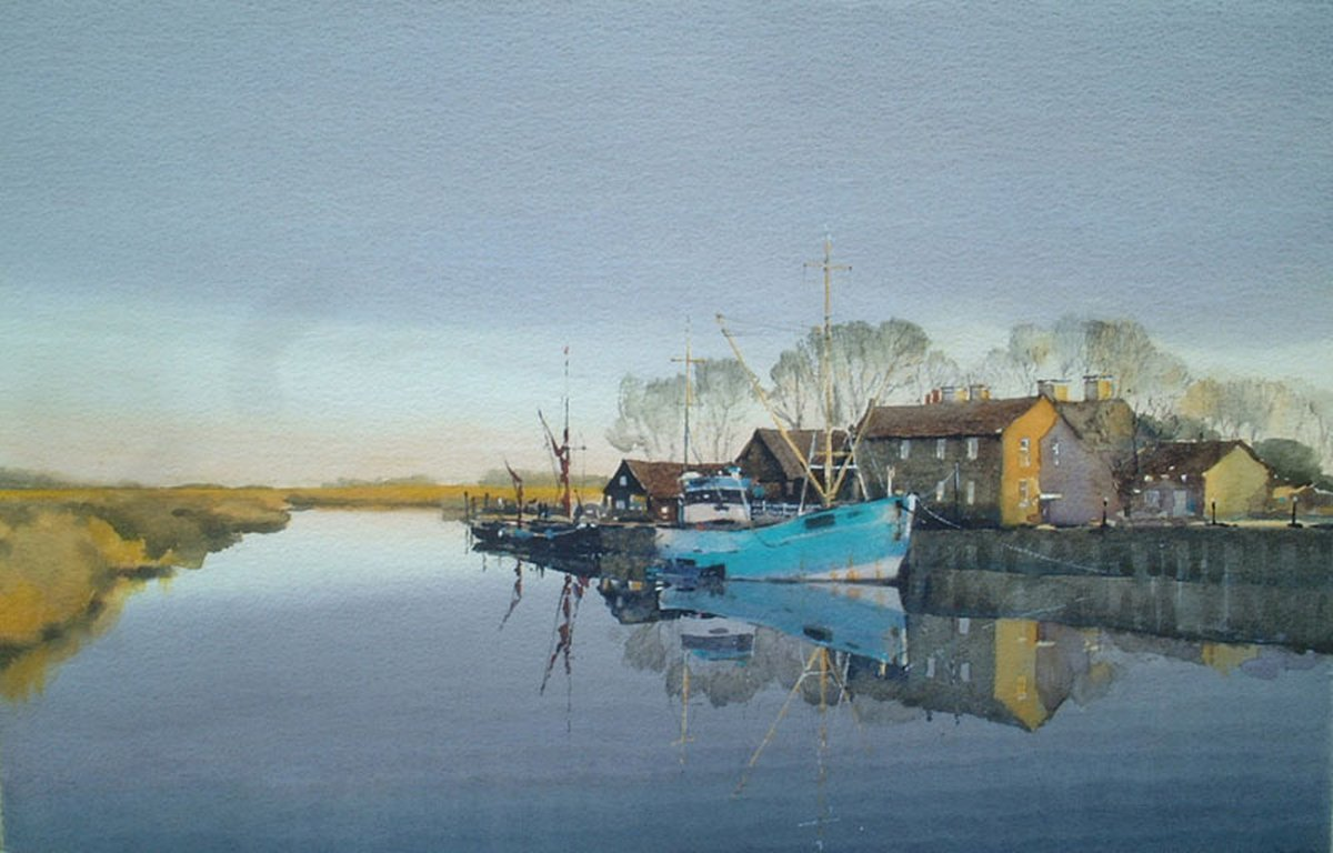 image showing Early Morning, Snape Maltings: Watercolour