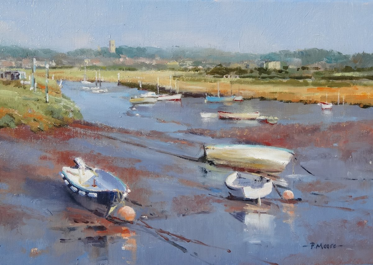 image showing Low Tide at Morston Creek: Oil on Canvas