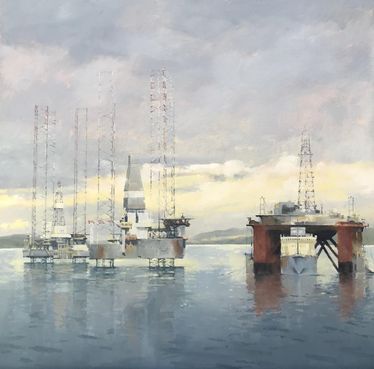 image showing Morning Light, Cromarty Firth: Oil on Canvas