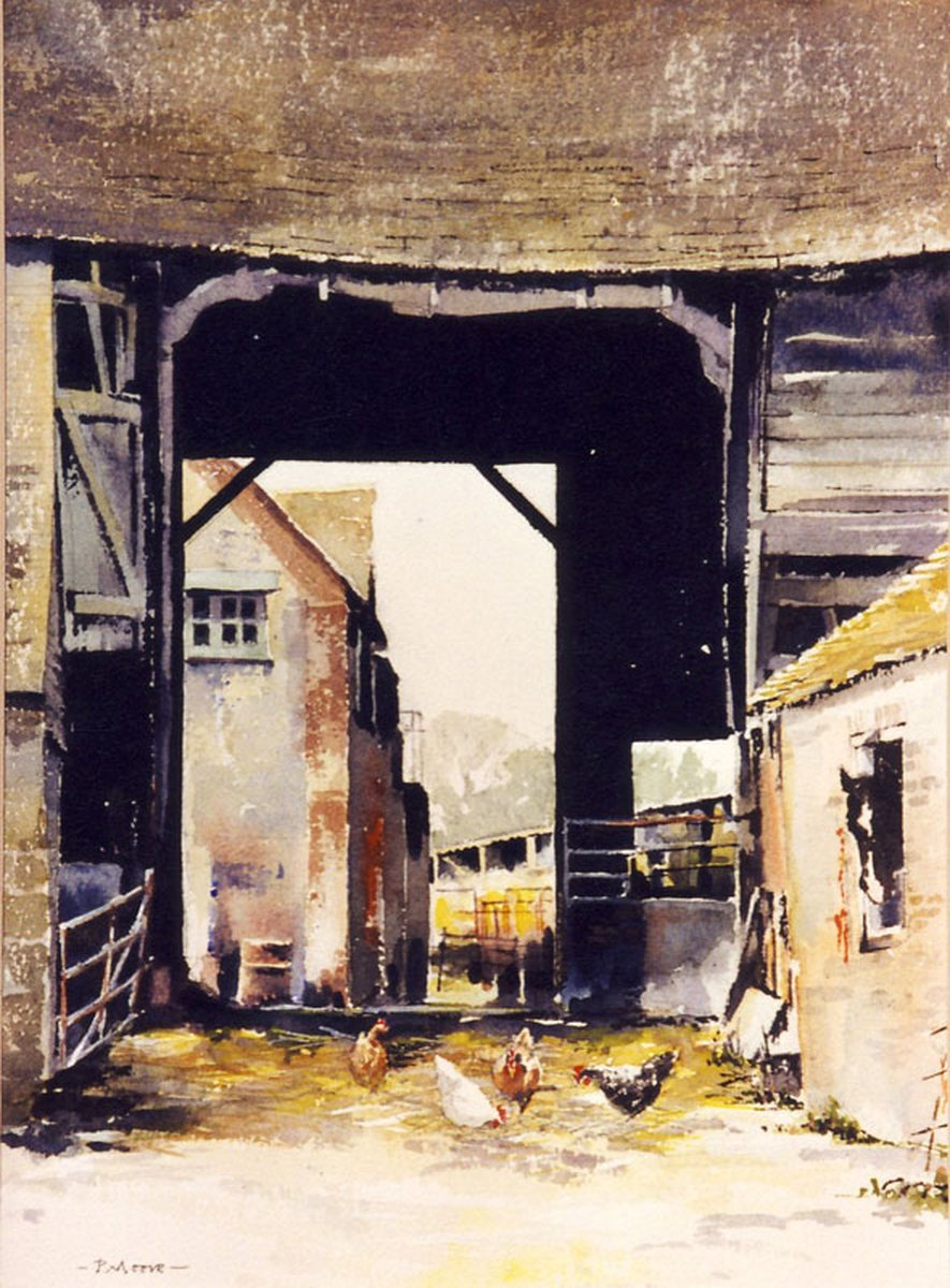 image showing The Stable Yard, Amberley: Watercolour