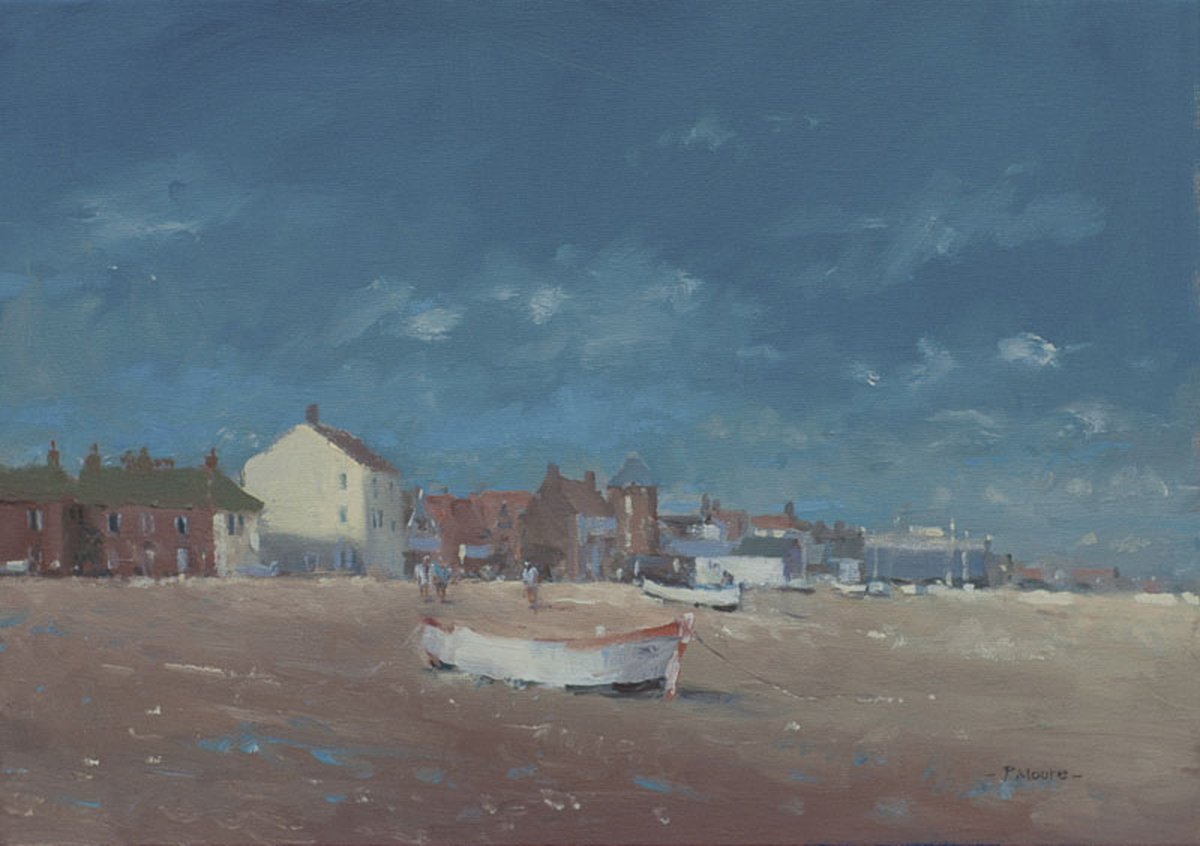 image showing The Foreshore, Aldeburgh: Oil on Canvas
