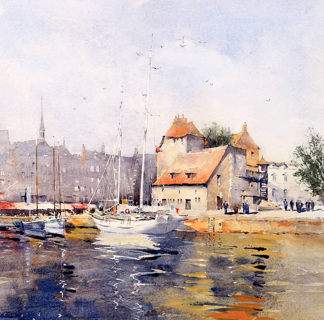 image showing La Lieutenance, Honfleur:  Watercolour