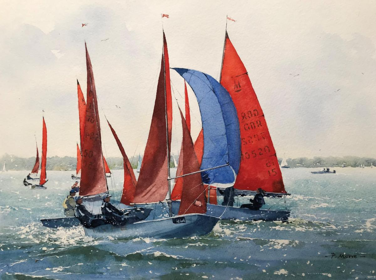 image showing The Blue Spinnaker:  Watercolour